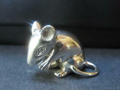AR Signed Sterling Silver Mouse 925 Miniature Figurine Italy