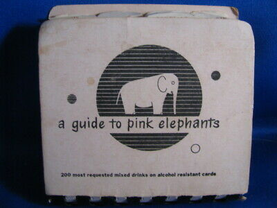 1952 Vintage Mixology Recipe Book- 'A Guide To Pink Elephants