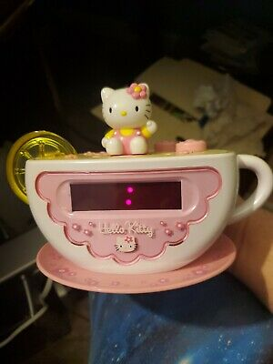 Hello Kitty Digital Tea Cup Alarm Clock & AM/FM Radio W/Lemon Slice Night Light