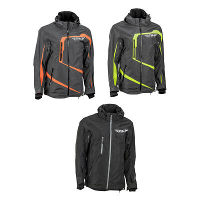 Men's FLY Racing Carbon Mountain Snowmobile Jacket Adult Snow Coat Winter