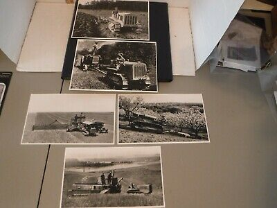 Vintage Photo Lot of 5 B&W from 1929 CAT Caterpillar Tractor Picture Book