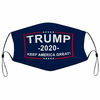 Trump 2020 Face Mask, Keep America Great Face Mask 3D One Size