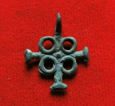 Ancient bronze Viking cross 10-12 century