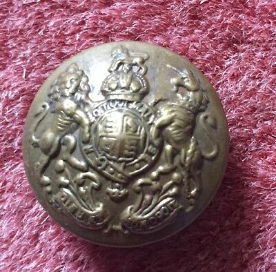"25mm Crested Brass Button ""Buttons Ltd Birmingham"""