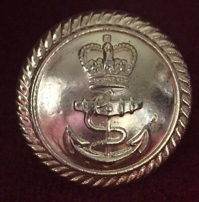 Royal Naval Gilt Brass Button 24mm Gaunt Birmingham