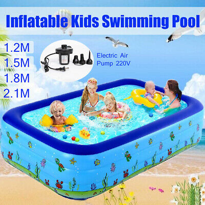 Large Summer Inflatable Kids Paddling Pools Family Swimming Pool Outdoor Garden