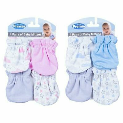 Wholesale job lot baby cotton pack of 4 pairs scratch mittens  x 10 BNWT