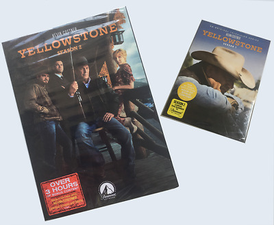 Yellowstone Complete Series Season 1& 2 (DVD Box Set ,8-Disc) Factory Sealed