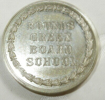 Antique Medal Bounds Green Boards School Prize For Attendance