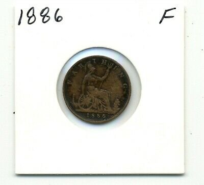 Coins. Great Britain. Farthing. 1886 Fine
