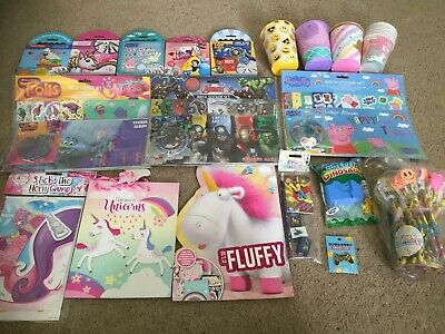 Huge Mixed Party Craft Job Lot - Unicorns Toy Story Peppa Pencil Disney Marvel