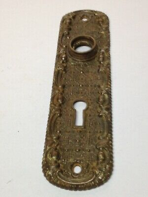 Antique Vintage 1887 Cast Iron Ornate Victorian Door Lock Key Hole Door Knob