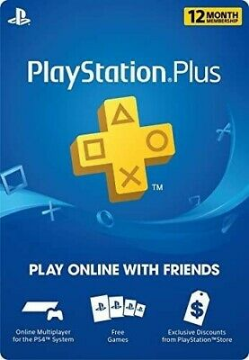 INSTANT DELIVERY Sony PlayStation Plus 1 Year / 12 Month Membership Card (USA)