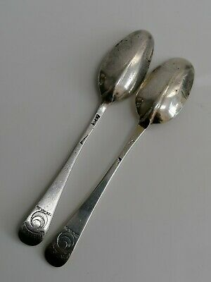 A Fabulous Pair Of Early 18Th Century Solid Silver Rat Tail Teaspoons, C1720