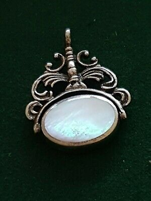 antique silver spinner watch fob