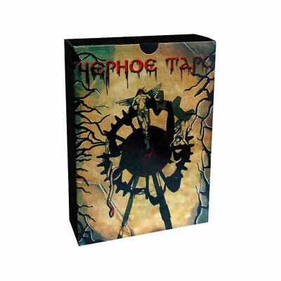Hephoe Black Tarot 78 Cards Deck Russian Edition with Book