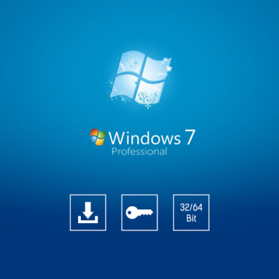 WINDOWS 7 PRO Professional Licence Key 32 / 64 Bit Windows 🔥Install+Download🔥