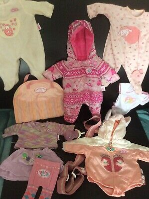 Baby Born Annabell Dolls Clothes Outfit Bundle Sheep Carrier Snow Suit Grow Zapf