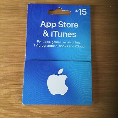Apple gift card APP STORE & iTunes £15 online Code