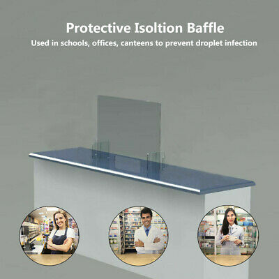 New SNEEZE GUARD - Acrylic Plastic Divider Barrier Nail Shield CHECKOUT COUNTER