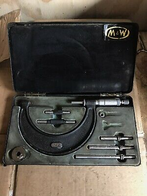 Moore & Wright Micrometer Set 0-4""