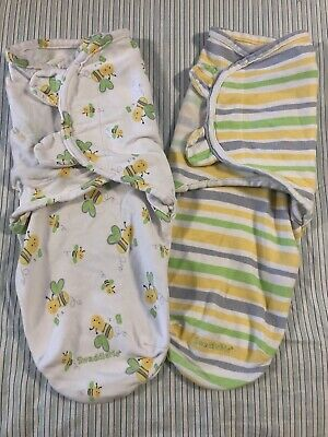 Swaddle Me Swaddle Sacks Size Small/Medium Lot Of 2