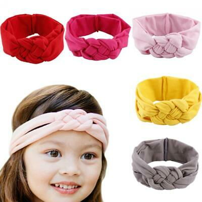 Girls Baby Cross Stretch Hairband Toddler Bow Knot Headband Turban Head Wrap