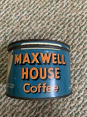Vintage Tin Can Maxwell House With Lid