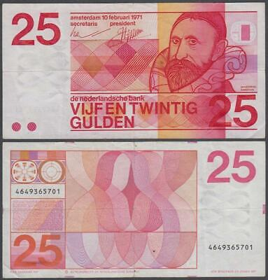 Netherlands, 25 Gulden, 1971, VF++, P-92(a)