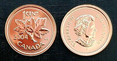 Canada 2004P Proof Like Gem UNC Small Cent Penny!!