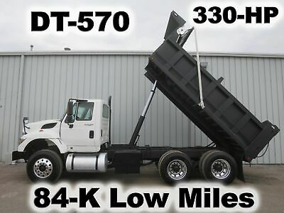 7400 Dt-570 Tandem Axle 15-Ft Dump Bed Body Haul Delivery Work Truck Low Mile