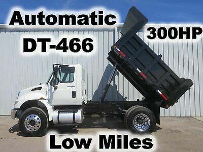 4400 Dt-466 Diesel 300-Hp Automatic 10-Ft Dump Bed Body Haul Delivery Truck