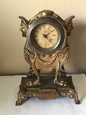 Antique Ansonia Jester Figural Novelty Mantle  Clock