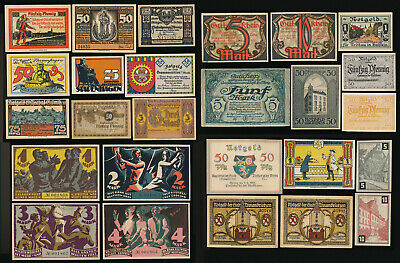 +Awesome+ 26 German Notgelds > Mostly All Crisp Unc Beauties > No Reserve