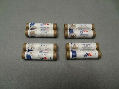 Uncirculated 2009 P&D  8 Roll Set Lincoln Cents Original Mint Wrappers