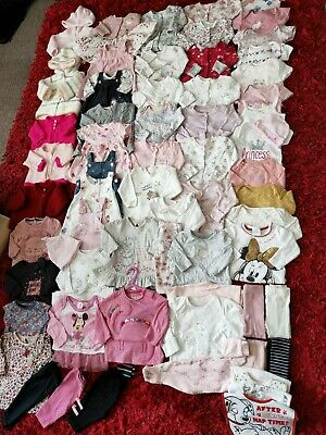 Baby Girls Clothes Bundle 0-3 Months DISNEY  PRIMARK GEORGE F&F TU