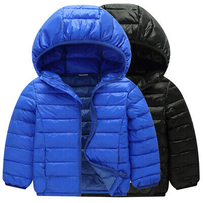 Girls Jacket Boys Tops Coat Toddler Casual Winter Jacket Thick Down Tops