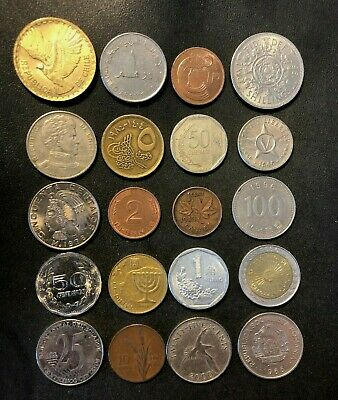 Coins of the World Lot - 20 Different Nations - FREE SHIP - Lot #M22