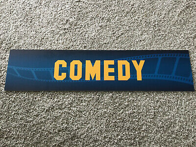 Vintage Blockbuster Video Comedy Section Sign