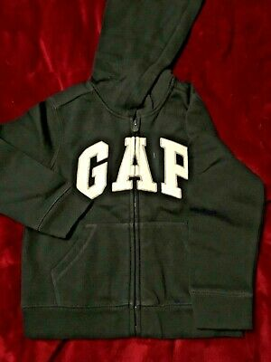 GAP Logo Hoodie Sweatshirt Coat Blue Soft Fleece $30 XS  4 5 Boys
