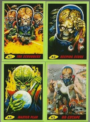 2013 Mars Attacks 2014 Calendar Complete Card Set A1-A4