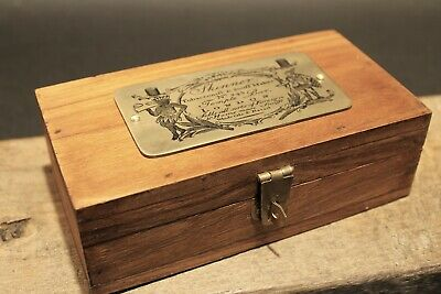 Vintage Antique Style Wood Tobacco Snuff Box