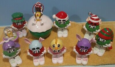 M&M candy figure lot of 10 Christmas Easter Holiday