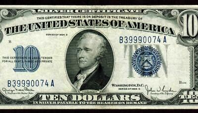 $10 1934 D (( VF +++ / XF  ))  Silver Certificate * MORE PAPER CURRENCY FOR SALE
