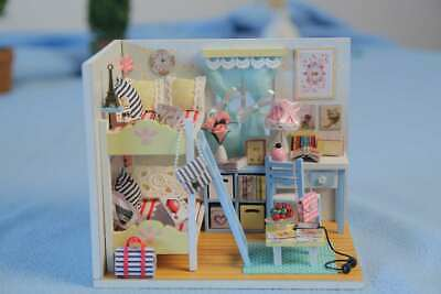 DIY Wooden Miniature Dollhouse Youth Ever (D014) w/ LEDs and Dust Cover & Glue