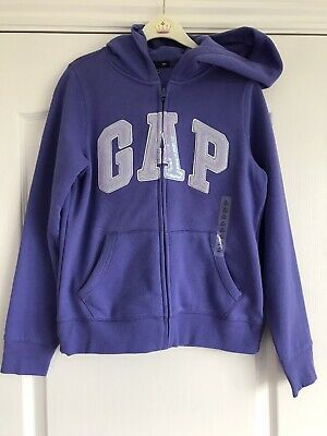 NEW Girls GAP Zipped Hoodie Purple - XL Age 12-13 years
