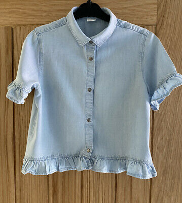 Girls Chambray Top/shacket, NEXT, Age 10 Years