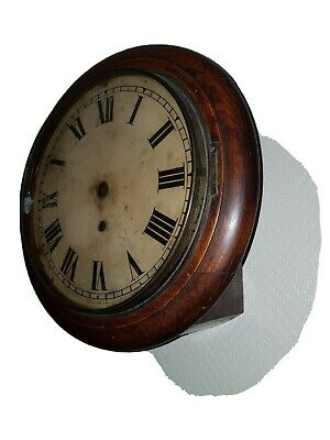 ANTIQUE Fusee Dial clock 10inch case