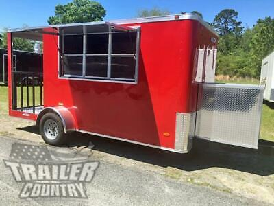 New 2020 6 X 14 Enclosed Concession Mobile Kitchen Food Truck Vending Trailer