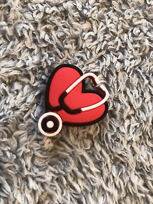 Croc Charm   JIBBITZ - Heart with Stethoscope : 1PIECE (Healthcare / Medical)
